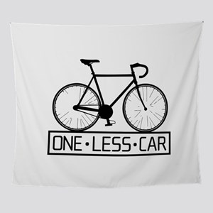 One Less Car Wall Tapestry