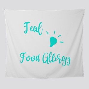 Food Allergy Im a Teal Light For Foo Wall Tapestry