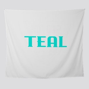 Food Allergy Lets Light It Up Teal F Wall Tapestry