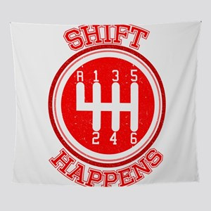 Shift Happens - Car Lover Wall Tapestry