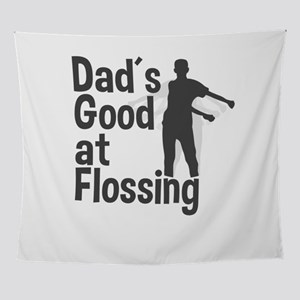Dads Midnite Floss Dance Gift Father Wall Tapestry