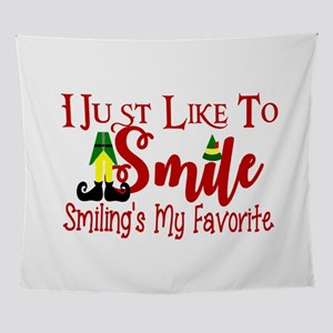 Smiling's My Favorite Wall Tapestry