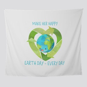 Custom Earth Day Every Day Wall Tapestry