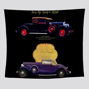 Art Deco Jazz Era Roadsters Wall Tapestry