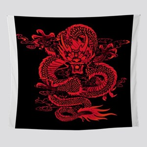 Epic Dragon Red Wall Tapestry