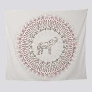 Cream Ombre Elephant Mandala Wall Tapestry