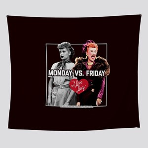 I Love Lucy Monday Vs. Friday Wall Tapestry