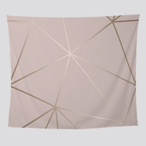 Soft Rose Gold Blush Pink Wall Tapestry