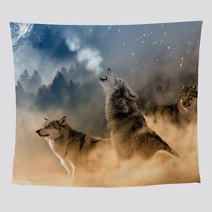 Wolves During Winter Wall Tapestry