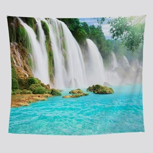 Tropical Waterfall Wall Tapestry