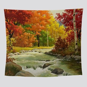 Autumn Landscape Painting Wall Tapestry