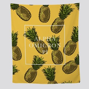 Alpha Omicron Pi Pineapples Wall Tapestry