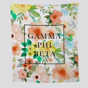 Gamma Phi Beta Floral Wall Tapestry