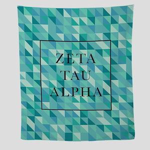 zeta tau alpha geometric Wall Tapestry