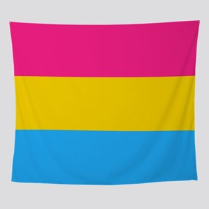 Pansexual Pride Flag Wall Tapestry
