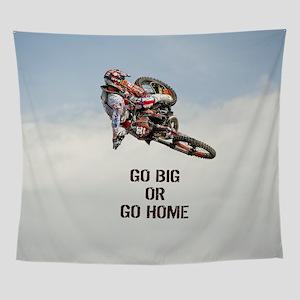 Motocross Rider Wall Tapestry