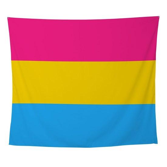 Pansexual Pride Flag Tapestry