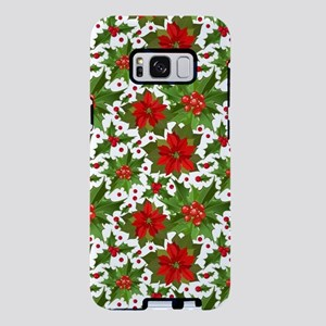 Poinsettia Pattern Samsung Galaxy S8 Plus Case