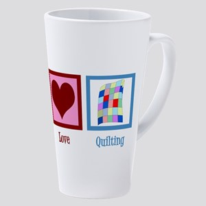 Peace Love Quilting 17 Oz Latte Mug