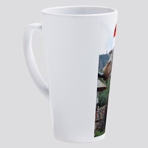 Christmas Giraffe 17 oz Latte Mug