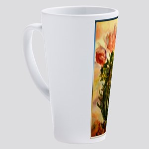 flowering cactus, southwest art 17 oz Latte Mug