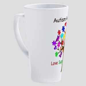 Autism Awareness Tree 17 oz Latte Mug