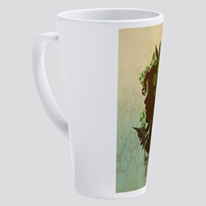 Leaf Woman 17 oz Latte Mug