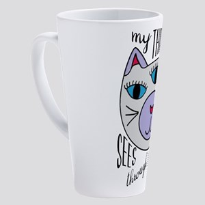 Third Eye Cat 17 oz Latte Mug