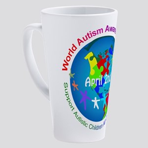 World Autism Awareness Day 17 oz Latte Mug