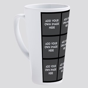 Add Your Own Images Collage 17 oz Latte Mug