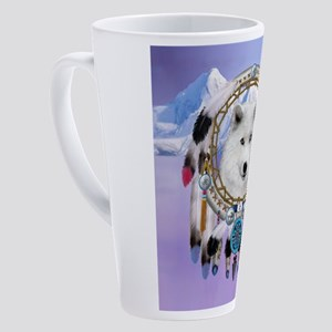 Native Indian Wolf Spirit 17 oz Latte Mug