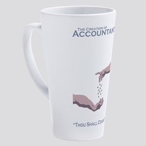 The Creation of Accountants 17 oz Latte Mug