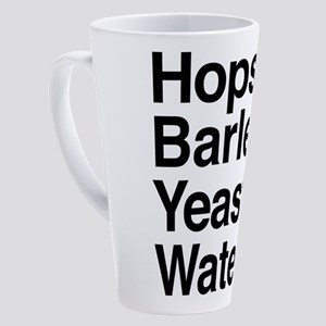 Hops Barley Yeast Water 17 oz Latte Mug