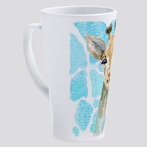 friendly baby giraffe 17 oz Latte Mug