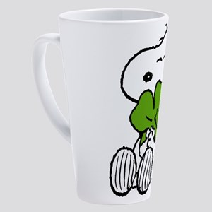 Snoopy Hugging Clover 17 oz Latte Mug