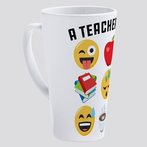 Emoji A Teacher's Day 17 oz Latte Mug