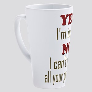 IT tee 17 oz Latte Mug