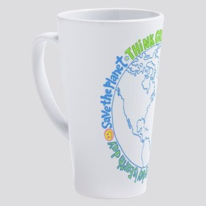 Think Green World 17 oz Latte Mug