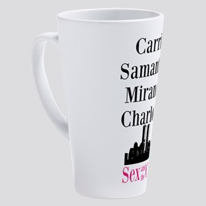 Sex and the City Character Names 17 oz Latte Mug