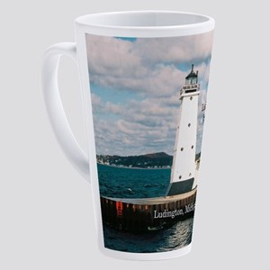 Ludington North Breakwater Light 17 Oz Latte Mug
