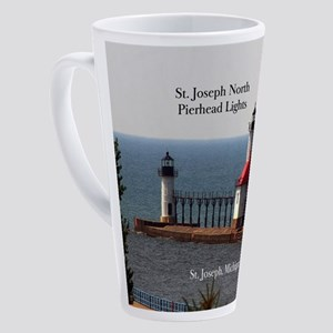 St. Joseph North Pierhead Lights 17 Oz Latte Mug