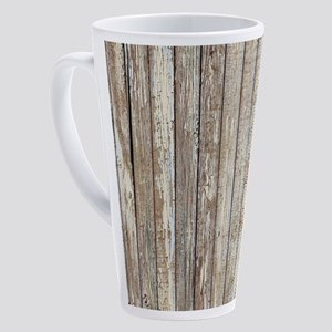 rustic country barn wood 17 oz Latte Mug