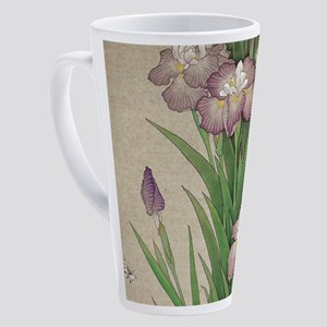 vintage botanical iris flower 17 oz Latte Mug