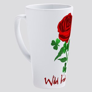 Wild Irish Rose 17 oz Latte Mug