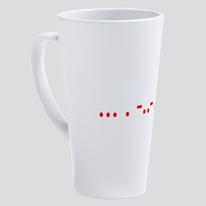 Morse Sex? 17 oz Latte Mug