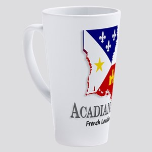 Acadiana French Louisiana Cajun 17 oz Latte Mug