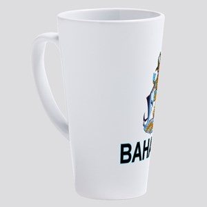bahamas-arms-labeled 17 oz Latte Mug