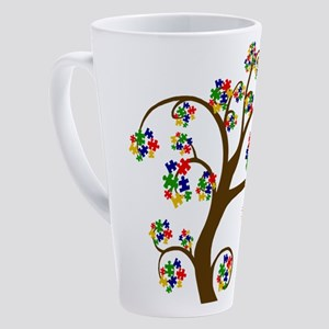Puzzled Tree of Life 17 oz Latte Mug