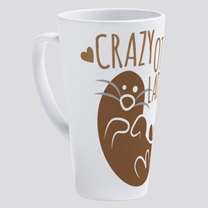 Crazy Otter Lady 17 oz Latte Mug