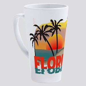 FLORIDABLUERIPPLE 17 oz Latte Mug